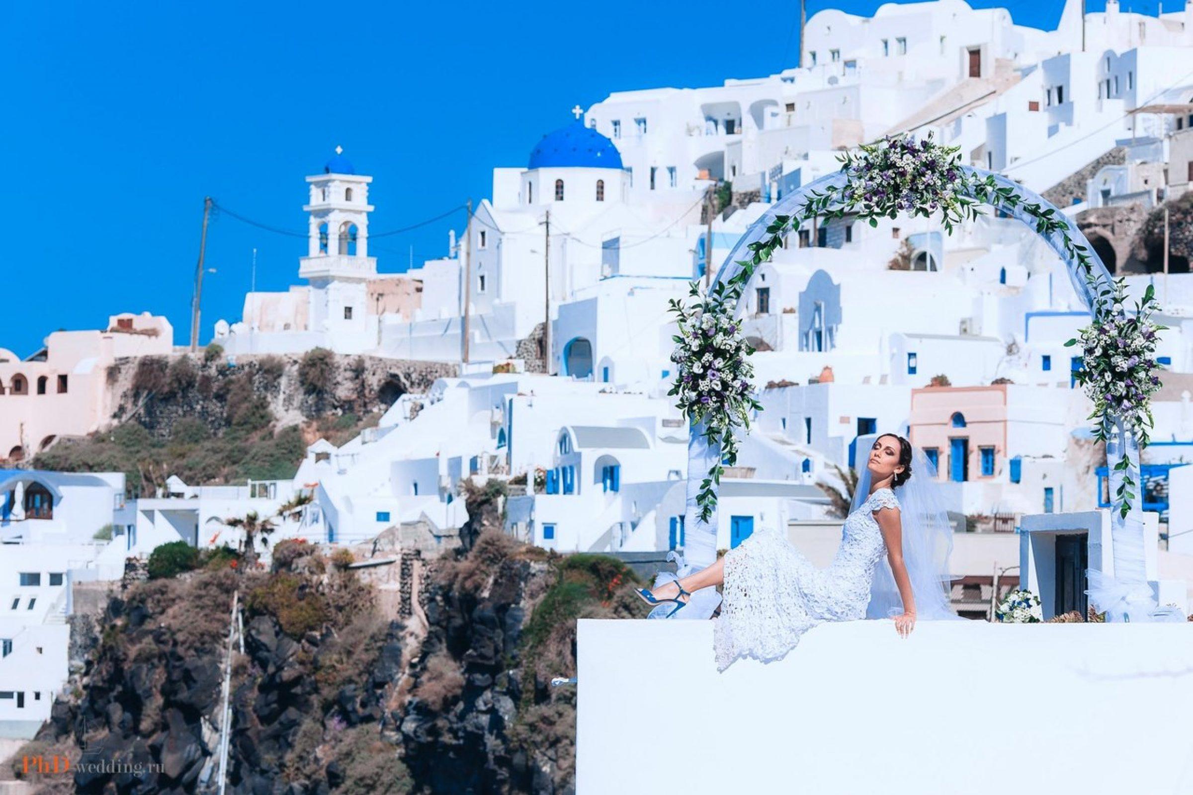 Свадебная съёмка в Греции